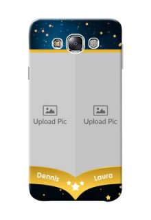 Samsung Galaxy E7 (2015) 2 image holder with galaxy backdrop and stars  Design