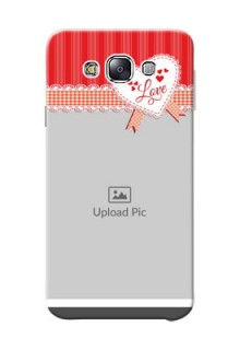 Samsung Galaxy E7 Duos Red Pattern Mobile Cover Design