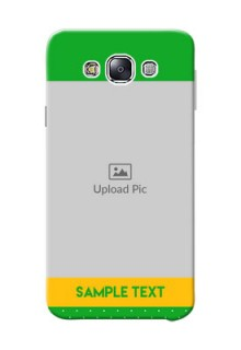 Samsung Galaxy E7 Duos Green And Yellow Pattern Mobile Cover Design