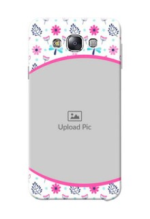 Samsung Galaxy E7 Duos Colourful Flowers Mobile Cover Design