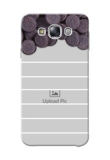 Samsung Galaxy E7 Duos oreo biscuit pattern with white stripes Design Design