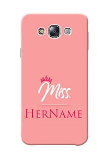 Galaxy E7 Duos Custom Phone Case Mrs with Name
