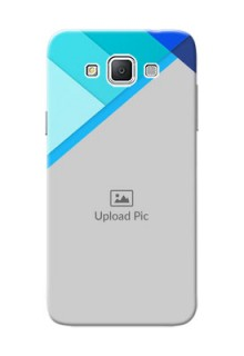 Samsung Galaxy Grand 3 G7200 Blue Abstract Mobile Cover Design