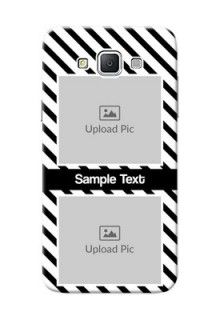 Samsung Galaxy Grand 3 G7200 2 image holder with black and white stripes Design