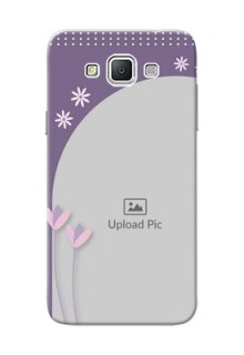 Samsung Galaxy Grand 3 G7200 lavender background with flower sprinkles Design Design