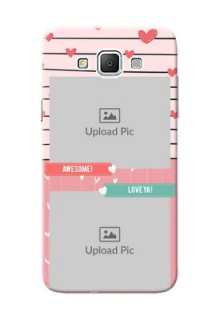 Samsung Galaxy Grand 3 G7200 2 image holder with hearts Design