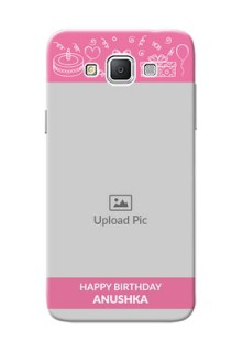 Samsung Galaxy Grand 3 G7200 plain birthday line arts Design Design