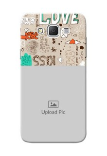 Samsung Galaxy Grand 3 G7200 love doodle  pattern design Design Design