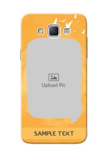 Samsung Galaxy Grand 3 G7200 watercolour design with bird icons and sample text Design Design