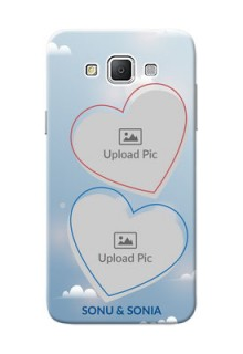 Samsung Galaxy Grand 3 G7200 couple heart frames with sky backdrop Design