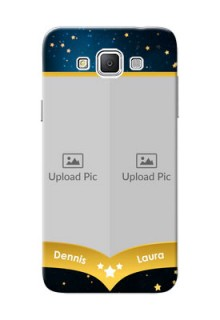 Samsung Galaxy Grand 3 G7200 2 image holder with galaxy backdrop and stars  Design