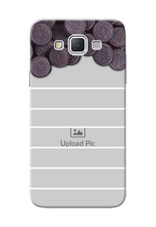 Samsung Galaxy Grand 3 G7200 oreo biscuit pattern with white stripes Design Design