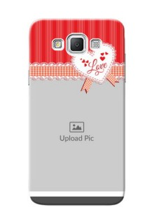 Samsung Galaxy Grand Max Red Pattern Mobile Cover Design