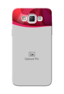 Samsung Galaxy Grand Max Red Abstract Mobile Case Design
