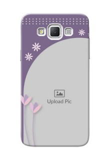 Samsung Galaxy Grand Max lavender background with flower sprinkles Design Design
