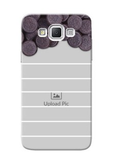 Samsung Galaxy Grand Max oreo biscuit pattern with white stripes Design Design