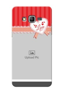Samsung Galaxy Grand Prime Red Pattern Mobile Cover Design