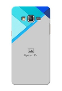 Samsung Galaxy Grand Prime Blue Abstract Mobile Cover Design