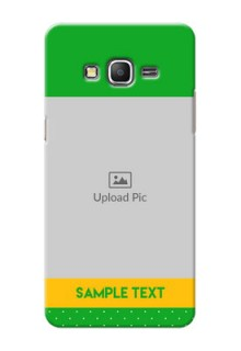 Samsung Galaxy Grand Prime Green And Yellow Pattern Mobile Cover Design