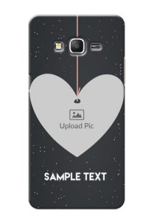 Samsung Galaxy Grand Prime Hanging Heart Mobile Back Case Design