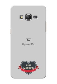 Samsung Galaxy Grand Prime Just Married Mobile Cover Design