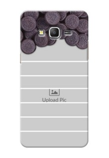 Samsung Galaxy Grand Prime oreo biscuit pattern with white stripes Design Design