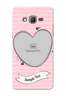 Samsung Galaxy Grand Prime seamless stripes with vintage heart shape Design
