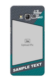 Samsung Galaxy Grand Prime 2 colour background with different patterns and dreams quote Design Design