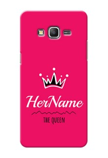 Galaxy Grand Prime Queen Phone Case with Name