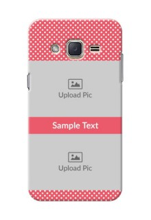 Samsung Galaxy J2 (2015) White Dots Mobile Case  Design