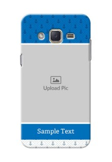 Samsung Galaxy J2 (2015) Blue Anchors Mobile Case Design