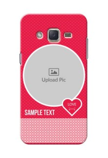 Samsung Galaxy J2 (2015) Pink Design Pattern Mobile Case Design