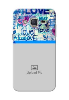 Samsung Galaxy J2 (2015) Colourful Love Patterns Mobile Case Design