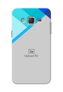 Samsung Galaxy J2 (2015) Blue Abstract Mobile Cover Design