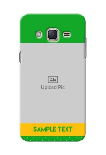 Samsung Galaxy J2 (2015) Green And Yellow Pattern Mobile Cover Design