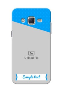 Samsung Galaxy J2 (2015) Premium Blue Colour Mobile Back Case Design
