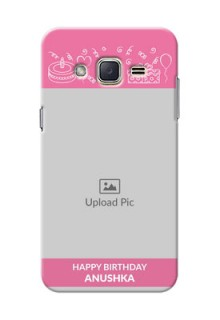 Samsung Galaxy J2 (2015) plain birthday line arts Design