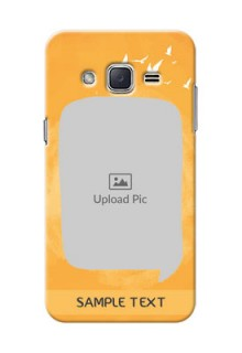 Samsung Galaxy J2 (2015) watercolour design with bird icons and sample text Design Design