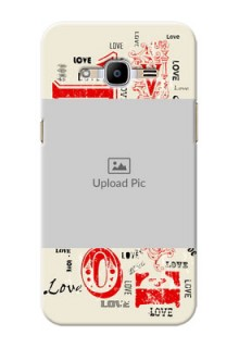 Samsung Galaxy J2 (2016) Lovers Picture Upload Mobile Case Design