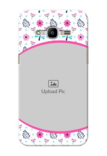 Samsung Galaxy J2 (2016) Colourful Flowers Mobile Cover Design