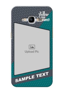 Samsung Galaxy J2 (2016) 2 colour background with different patterns and dreams quote Design Design