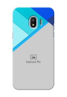 Samsung Galaxy J2 2018 Blue Abstract Mobile Cover Design
