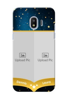 Samsung Galaxy J2 2018 2 image holder with galaxy backdrop and stars  Design
