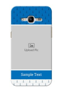 Samsung Galaxy J2 Pro (2016) Blue Anchors Mobile Case Design