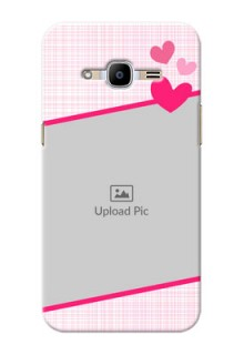 Samsung Galaxy J2 Pro (2016) Pink Design With Pattern Mobile Cover Design