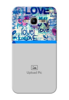 Samsung Galaxy J2 Pro (2016) Colourful Love Patterns Mobile Case Design