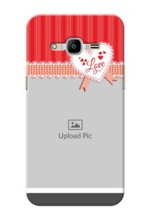 Samsung Galaxy J2 Pro (2016) Red Pattern Mobile Cover Design