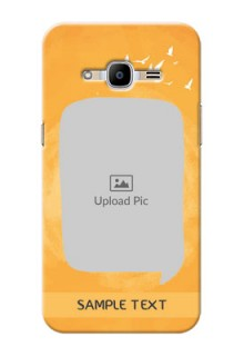 Samsung Galaxy J2 Pro (2016) watercolour design with bird icons and sample text Design Design