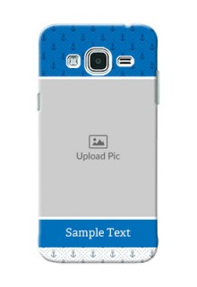 Samsung Galaxy J3 Blue Anchors Mobile Case Design