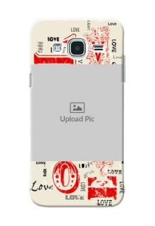 Samsung Galaxy J3 Lovers Picture Upload Mobile Case Design